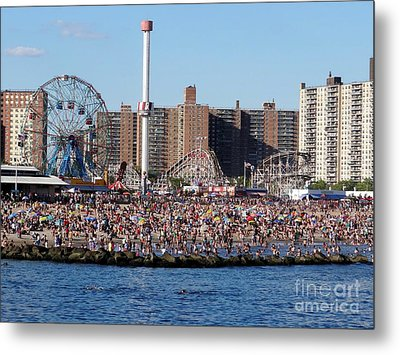 Metal Print featuring the photograph Coney Island by Ed Weidman