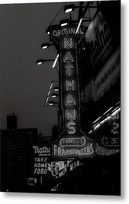 Coney Island Noir Metal Print