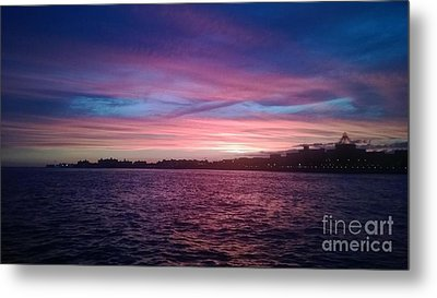 Coney Island Summertime Sunset Metal Print