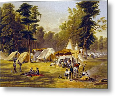 Confederate Camp Metal Print