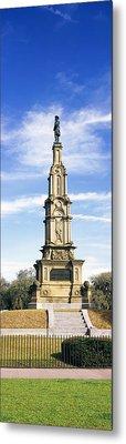 Confederate Memorial In Forsyth Park Metal Print by Panoramic Images