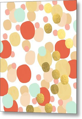 Confetti- Abstract Art Metal Print by Linda Woods