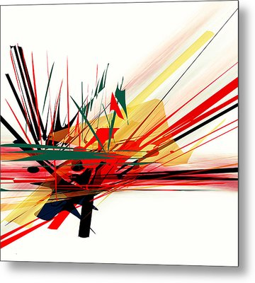 Metal Print featuring the painting Conflict 1 by Andrew Penman