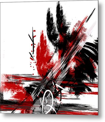 Metal Print featuring the painting Conflict 2 by Andrew Penman