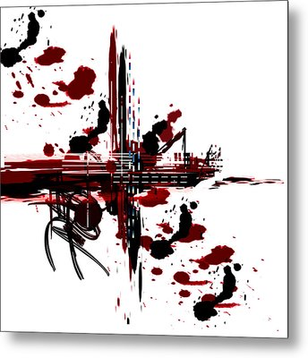 Metal Print featuring the painting Conflict3 by Andrew Penman