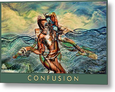 Metal Print featuring the mixed media Confusion by Tyler Robbins