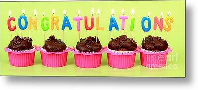Congratulations Cupcakes Metal Print