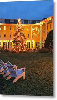 Congress Hall Christmas Metal Print