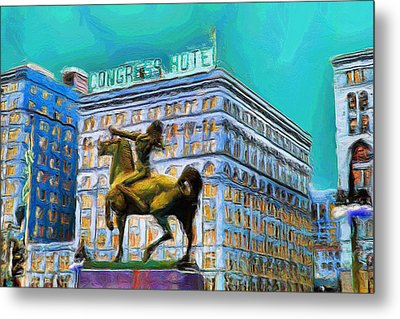 Congress Hotel - 20 Metal Print