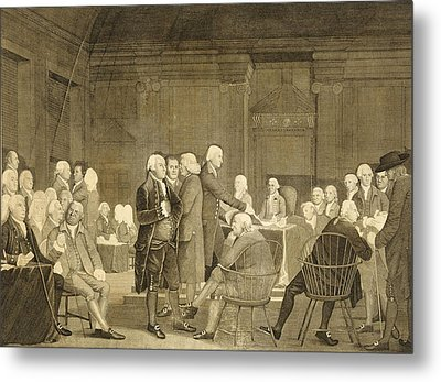 Congress Voting Independence Metal Print by Edward Savage