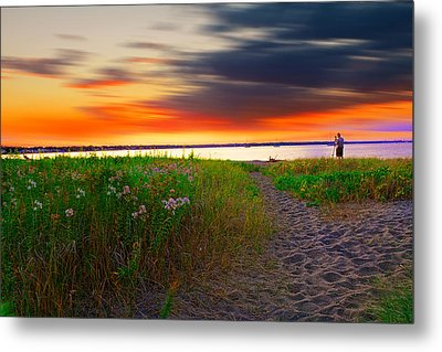 Conimicut Point Beach Rhode Island Metal Print