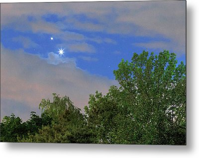Conjunction Of Venus And Jupiter Metal Print