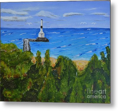 Summer, Conneaut Ohio Lighthouse Metal Print