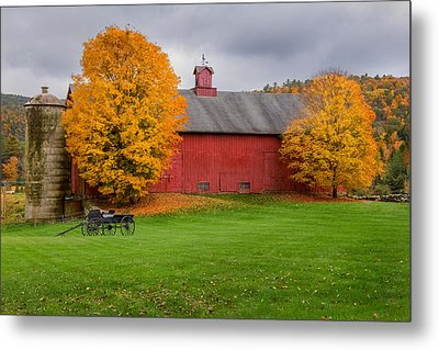 Connecticut Autumn Metal Print by Bill Wakeley