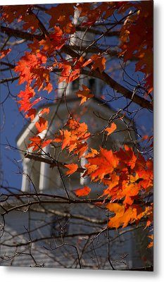 Connecticut Fall Colors Metal Print by Jeff Folger