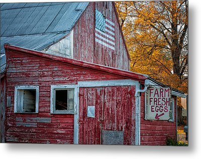 Connecticut Farmstand Metal Print by Thomas Schoeller