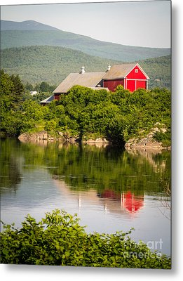 Connecticut River Farm Metal Print by Edward Fielding