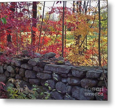 Connecticut Stone Walls Metal Print