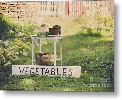 Connecticut Vegetable Stand Metal Print by Diane Diederich