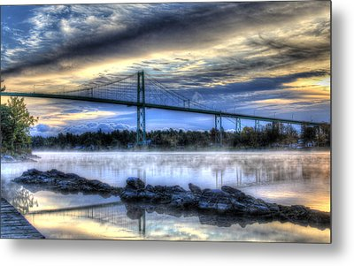Connecting Bridge Metal Print