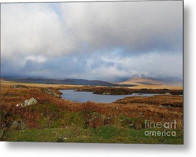 Connemara Bog Road Metal Print by Lynda Cookson