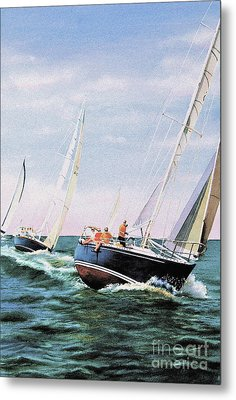 Metal Print featuring the painting Conquistador Cup by Karol Wyckoff