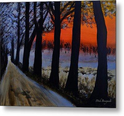 Conrad Road Sunrise Metal Print by Dick Bourgault