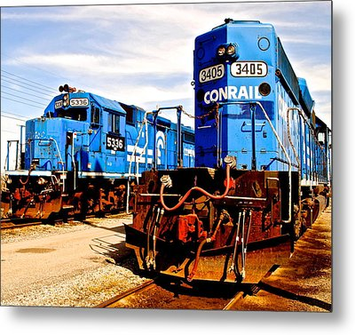 Conrail Choo Choo  Metal Print by Frozen in Time Fine Art Photography