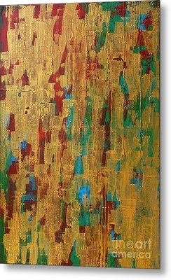 Consciousness Can Not Hide Behind The Gold Metal Print