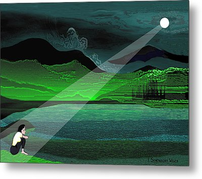 Consolation - 695 Metal Print by Irmgard Schoendorf Welch