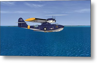 Consolidated Pby-5a Catalina Metal Print by Walter Colvin