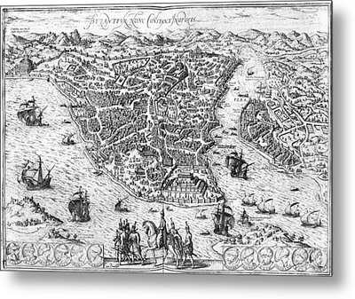 Constantinople, 1576 Metal Print by Granger