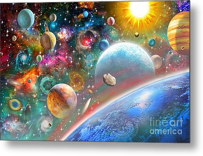 Constellations And Planets Metal Print by Adrian Chesterman