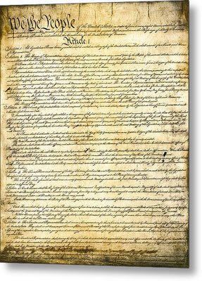 Constitution Of The United States Metal Print by Daniel Hagerman