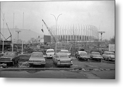Construction Of The Ford Rotunda Metal Print