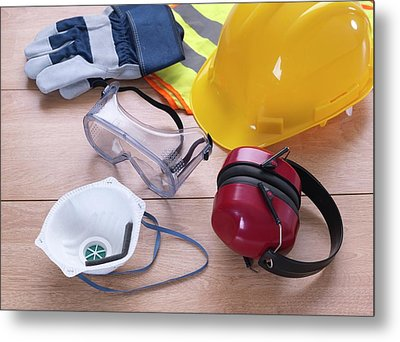 Construction Safety Equipment Metal Print by Tek Image