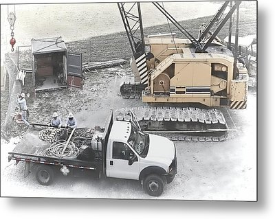 Construction Site Metal Print by Rudy Umans