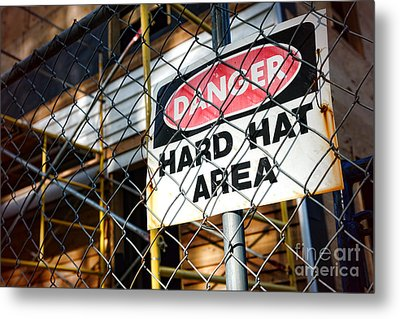 Construction Zone  Metal Print by Olivier Le Queinec