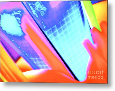 Consuming The Grid Metal Print by Xn Tyler