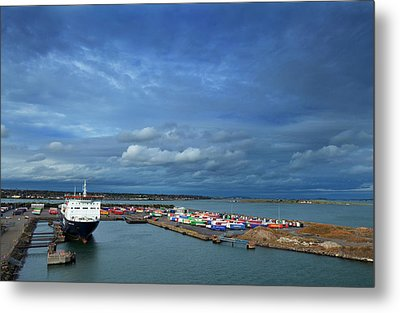 Container Docks At The Mouth Metal Print