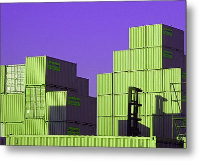Containers 18 Metal Print by Laurie Tsemak