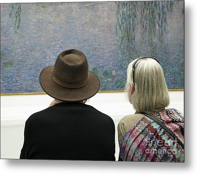 Metal Print featuring the photograph Contemplating Art by Ann Horn