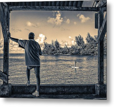 Contemplating Hanalei Metal Print by Robert FERD Frank