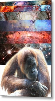 Contemplating Multiple Universes Metal Print by John Lautermilch