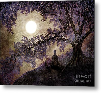 Contemplation Beneath The Boughs Metal Print by Laura Iverson