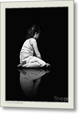 Contemplation In Dark Metal Print