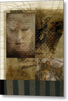 Contemplation In Sepia Metal Print