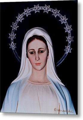 Contemplative Our Lady Queen Of Peace  Metal Print