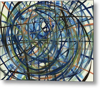 Contemporary Art Seventeen Metal Print by Lynne Taetzsch