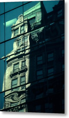 Metal Print featuring the photograph Contemporary Reflects The Past by Ben Kotyuk